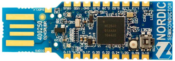 Low-cost USB dongle from Nordic for wireless designs